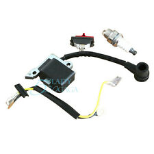 For Husqvarna 137 142 Chainsaw Engine Ignition Coil & Switch & Spark Plug Set