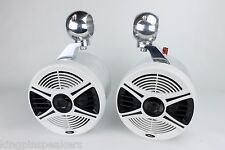 """Chaparral Wakeboard Tower Speakers 6.5"""" - NEW-Polished !! UTV, JEEP, RZR, CART"""