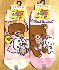 NEW SAN-X official Rilakkuma Two feet Two Sneaker Socks JAPAN KAWAII Pink Cute