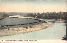 BR61895 horseshoe band and powder house  river avon  uk
