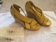 Cole Haan Nike Air Women's Yellow Wedges Size 10 B