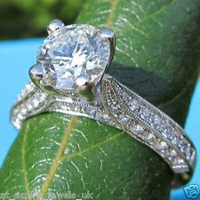 2.2CT ROUND BRILLIANT CUT DIAMOND SOLITAIRE ENGAGEMENT RING SOLID 14K WHITE GOLD