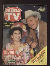 NUOVA GUIDA TV MONDADORI 20/1987 RENZO ARBORE MARISA LAURITO PROGRAMMI TV LOCALI