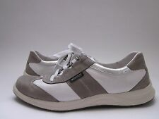 $200 Mephisto Laser Perfore Grey/White Smooth Fashion Sneaker Women's 7.5 M
