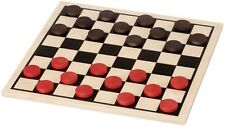 "NEW 15"" CLASSIC WOODEN CHECKER BOARD SET GAME Quality Made USA Maple Landmark"