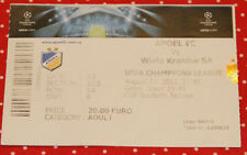 Ticket for collectors CL APOEL Nicosia Cyprus Wisla Krakow Poland