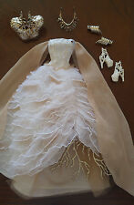 BARBIE GOWN - 'LADY OF THE WHITE WOODS' - COMPLETE - STUNNING