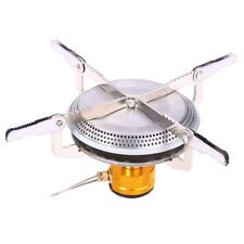 Portable Gas Burner Mini Stove Head Stainless Steel for Outdoor Camping Hiking
