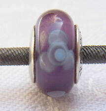 Original Pandora Beads Element 790643 Glas Blumen Lila Silber Spacer Charms Nr.2