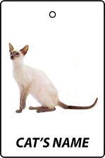PERSONALISED SIAMESE CAT NAME CAR AIR FRESHENER