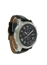 Guess Steel W13087G2 Men's Roman Chronograph Date Brown Leather Analog Watch