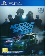 Need For Speed HK Chinese subtitle Version English Voice PS4 NEW