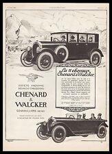 Publicité Automobile Chenard & Walcker 11 chevaux  car vintage print ad 1925 -2h