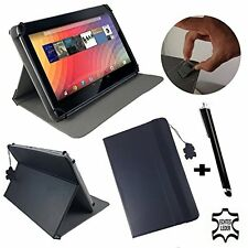 "10.1"" Genuine Leather Case Cover For MEDION LIFETAB P10400 - 10.1 inch Black"