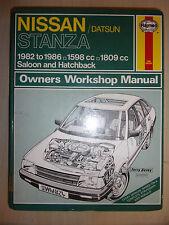 NISSAN DATSUN STANZA HAYNES WORKSHOP MANUAL GL SGL XE 1982-1986