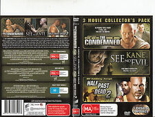 The Condemned-2007-Steve Austin/See No Evil/Half Past Dead:2-3 Disc-3 Movie-DVD