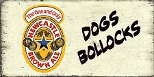 Brown ale Newcastle Dog- Shabby Chic  Beer Wall Plaque  Sign Gift