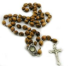 1 X Olive Wood Rosary with Jordan River Water - Made in Bethlehem - Holy Land