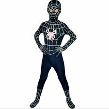 Childrens Fancy Dress Costume Spiderman Black Venom Kids Boys Halloween 90-120CM