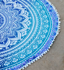 Indian Round Mandala Roundie Beach Throws Yoga Mat Bohemian Table Cloths x