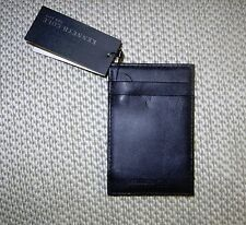 "KENNETH COLE BLACK LEATHER ""For cash and carry"" CARD/ID &CASH HOLDER, NWT"