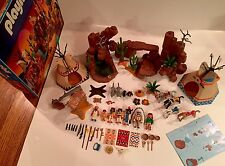 Playmobil 3870 Master Camp Thunder Set~Indian~Western~Vintage~EUC~SHIPS FASSST!!