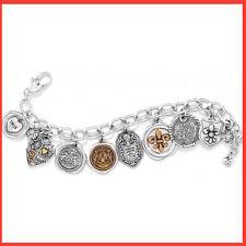 Brighton~TREASURE DEVOTION Silver Crystal CHARM Bracelet~JB4732~FREE SHIP~NWT$68