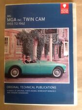 The MGA Including Twin Cam Parts& Service Publications Including Owners Handbook