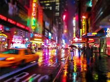 Photographie Paysage Ville de New York motion blur ART PRINT POSTER mp3904a