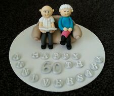Edible handmade married couple, anniversay, birthday, retirement cake topper