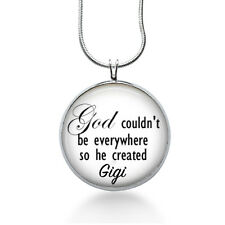 Personalized Grandma Necklace--God couldn't be everywhere -mother-grandma, gigi