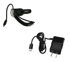 2 AMP Micro USB Car Charger + Wall Home Travel Charger for LG Optimus Net L45C