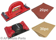 New Hand & Flexible Sander With 30pc Sandpaer & 20pc Emery Paper Carpenter Wood