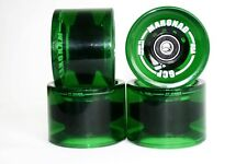 4 unidades longboard roles Wheels verde 70x50mm 85a incluyendo ABEC 11 y spacers