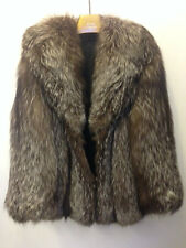 Phillip Hockley London Mayfair Natural Top Silver Fox Fur jacket Uk 10 harrods