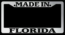 Chrome METAL License Plate Frame Made In Florida Auto Accessory