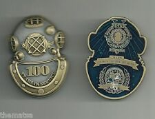"NAVY DIVE DIVER SCHOOL 100TH ANNIVERSARY 2.5"" MILITARY SCUBA CHALLENGE COIN"