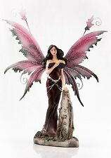 Fairy Leaning on Stone Red Legends of Avalon Figurine