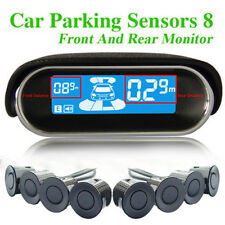 Car Parking Sensors LCD 8 Rear Front View Reverse Backup Buzzer Radar Kit Alarm