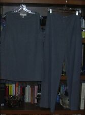 Escada Gray Tunic Shell Size 10/40 and Pant Size 14/44