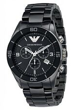 Emporio Armani AR1421 Men's Ceramic Black Chronograph Dial Watch