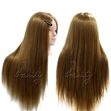 "2 Usage 24"" 50% Hairdressing Mannequin Real Human Hair Training Styling Head"