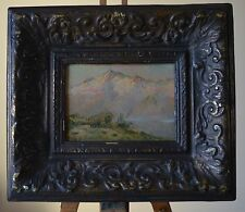 F. Vidal (XX) Listed Artist Fine Chilean Andes Mountains on Canvas Laid on Board