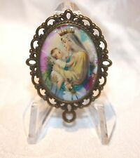 Custom Bronze Rosary Center Part/Color/Rosary Making/Blessed Queen of Heaven