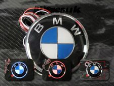 82mm BLUE RED LED BACK TRUNK BOOT EMBLEM BADGE FOR BMW 3 5 7 X SERIES