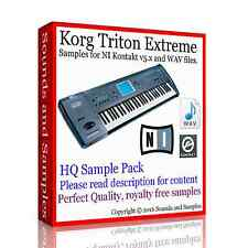 Korg Triton Extreme, HQ Samples for KONTAKT 5x NKI. New, delivered on 14 DVDs.