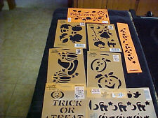 Halloween Stencils 8 Pumpkins Witches Cat Hat Welcome By Plaid All Night Media