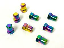 VMS RACING CNC NEO CHROME 7PC VALVE COVER NUT BOLT SET FOR HONDA B20 ENGINES