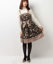 1348.BNWT!axes femme popular present box chocolate-color classic lolita dress