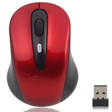 Brand New 2.4GHz Wireless Optical Mouse Mice + USB 2.0 Receiver for PC Red